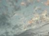 Wolken und Mond